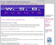 Website W. S. B. - EVENTS Musik und Entertainment