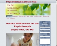 Website Physiotherapie physio-vital Uta Mai