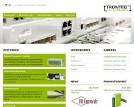 Bild Webseite TRONTEQ Electronic Reutlingen