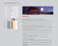 Website Zeltkontor by Maier Bros.