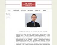 Bild Webseite Dr. Rente Anwaltskanzlei München
