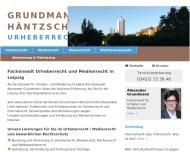 Bild Webseite Rechtsanwalt Alexander Grundmann Leipzig