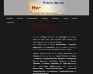 Website Malerfachbetrieb Maier