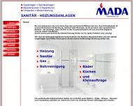 Website MADA Gebäudetechnik