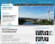 Bild Webseite Falch & Partner Rechtsanwälte Steuerberater München