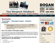 Website Taxi & Mietwagen Dogan