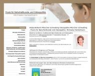 Bild Webseite Praxis für Naturheilkunde und Osteopathie Michaela Henkelmann München