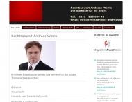 Website Rechtsanwalt Andreas Wehle