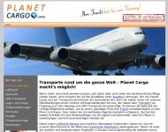 Bild Webseite Planet Cargo Trebur