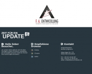 Website F. A. Entwicklung