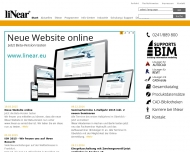 Bild Webseite liNear Gesellschaft für konstruktives Design Aachen