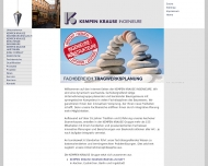 Website Kempen Krause Ingenieurgesellschaft