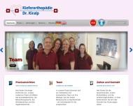 Bild Webseite Kiralp A. Dr.med.dent. Kieferorthopädie Aachen