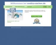 Bild Webseite EXOTICA Pflanzenladen Aachen