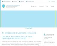 Website Praxisklinik der Zahnheilkunde am Luisenhospital Aachen