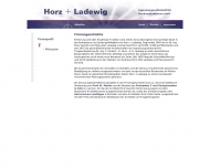 Website Horz + Ladewig Ingenieurges.