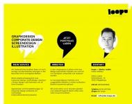 Bild Webseite loope » Freier Grafiker für Grafikdesign, Corporate Design, Screendesign Magdeburg