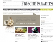 Bild Webseite FRISCHEPARADIES Stuttgart