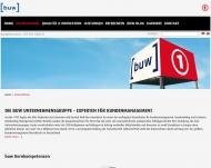 Bild Webseite buw Unternehmensgruppe Osnabrück