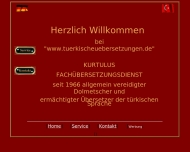 Bild Webseite Kurtulus Übersetzungsdienst Türkisch Duisburg