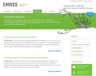 Website CHIVES - Werbeagentur Darmstadt
