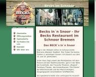 Bild Webseite Beck`s in`n Snoor Bremen