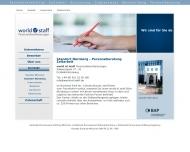 Website world of staff Personaldienstleistungen