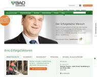Bild Webseite BAD Gesundheitsvorsorge und Sicherheitstechnik Köln