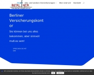 Bild Webseite Berliner Versicherungskontor Berlin