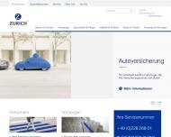 Bild Webseite Zurich Versicherungsgruppe Regionaldirektion Berlin