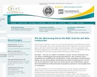 Bild Webseite BIAC Finanzierung  und Versicherungsmanagement Berlin