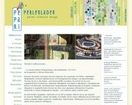 Bild Webseite pepari perlenladen Aachen