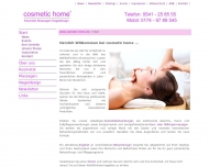 Website cosmetic home