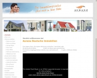 Website AURANA DEUTSCHE  IMMOBILIEN
