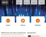 Bild b&b eventtechnik GmbH, Veranstaltungstechnik Stuttgart, Verleih ...