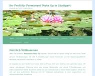 Bild Webseite Kosmetik am Teich Stuttgart