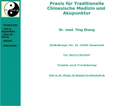 Dr.med.Zhang Praxis f. TCM u. Akupunktur Darmstadt