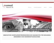 Bild Webseite Evomed Diagnostics Darmstadt