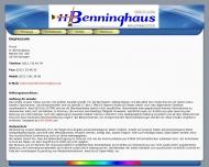Website Malermeister Hans Benninghaus