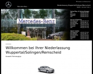 Bild Webseite Mercedes-Benz Niederlassung Wuppertal Wuppertal