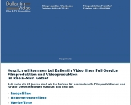 Website Ballentin Video Film und TV Produktion