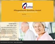 Bild Herzlich Willkommen beim Pflegedienst Qualitas in Potsdam.