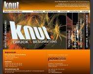 Website Druck & Beschriftung - Knut. Druckerei & Beschriftung Potsdam
