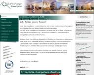 Bild Webseite Fuß-Fit-Forum Sanitätshaus Orthopädieschuhtechnik Nürnberg