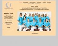 Website Zahnarztpraxis Dres. Christiane und Hans-Joachim Schneider