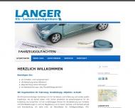 Bild Webseite KFZ Sachverständigenbüro Langer Magdeburg