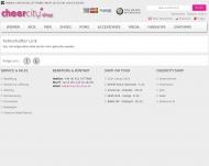 Bild Webseite CCA CentralCheerleadingAgency Nürnberg