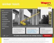 Bild Webseite Arbeitsbühnen und Teleskopstapler mieten bei Wagert ... Nürnberg