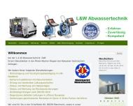 Bild Webseite L&W Abwassertechnik Mannheim