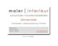 Website MAIER | INTERIEUR AutoSattlerei + Polsterei Meisterbetrieb